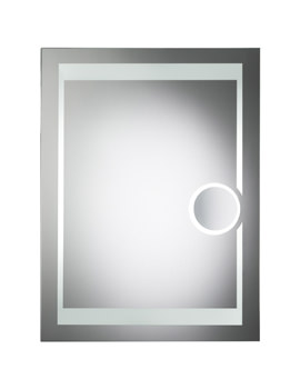 Clarity Corona Backlit Mirror With Shaver Mirror - MLB300