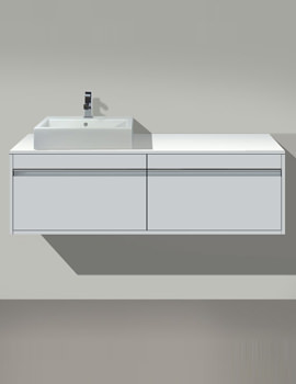 Ketho Left Hand Cut-Out Unit For Above Countertop Basin