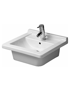 Starck 3 480mm Single Tap Hole Washbasin - 0303480000