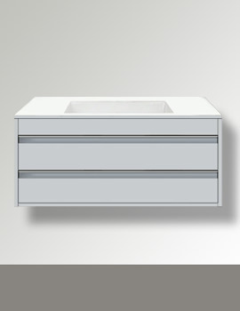 Ketho 800mm 2 Drawers Unit For Undercounter Basin