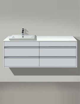 Ketho Left Hand Cut-Out 4 Drawers Unit For Vanity Basin