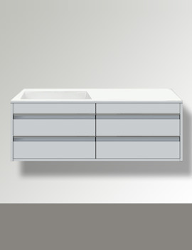 Ketho Left Hand Cut-Out 4 Drawers Unit For Bonded Basin