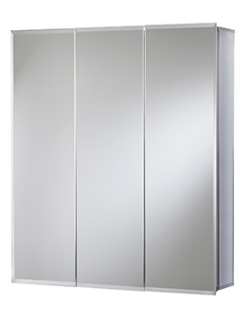 Croydex Heacham Triple Door Tri-View Cabinet 762 x 762mm -WC102522