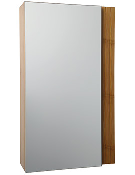 Croydex Bamboo Single Door Cabinet 350 x 600mm - WC410179