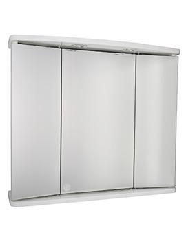Croydex Marden Triple Door Tri-View Illuminated Cabinet - WC146322E