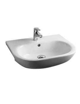 Essential Lily 52cm Semi Recessed Basin - EC1005