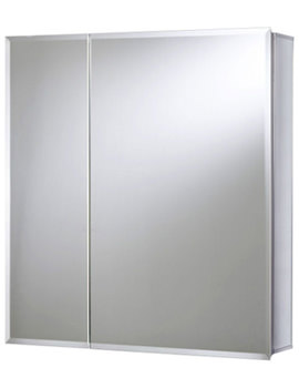 Croydex Marden Double Door Bi-View Cabinet 762 x 762mm - WC102222