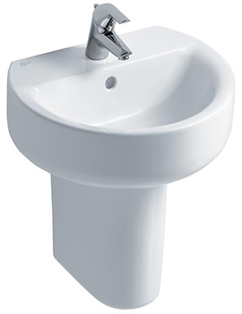 Ideal Standard Concept Sphere 500mm 1 Taphole Basin And Semi Pedestal