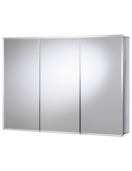 Croydex Burwell Triple Door Tri-View White Steel Cabinet 1219 x 762mm