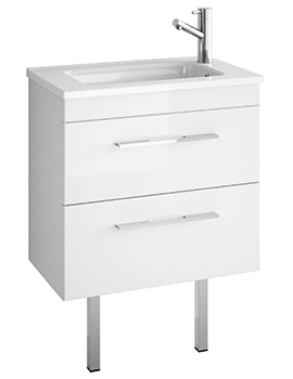 Croydex Chinnock Depth 360mm Vanity Unit Gloss White