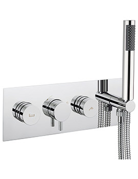 Crosswater Dial Bath - Shower Valve With Kai Lever Trim And 1 Mode Handset