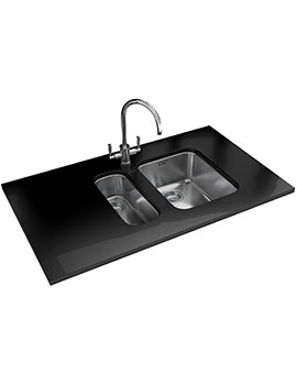 Ariane Propack ARX 110 17D + 110 35 Stainless Steel Sink And Tap