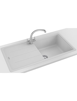 Basis Propack BFG 611-970 Fragranite Polar White Kitchen Sink And Tap