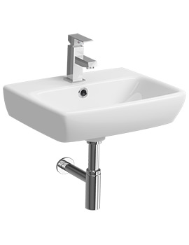 Twyford E100 Square 450 x 350mm 1 Tap Hole