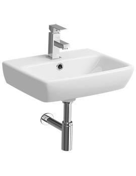 E100 Square 450 x 350mm 1 Tap Hole Handrinse Washbasin