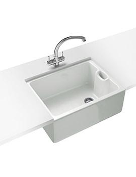 Belfast Propack BAK 710 White Ceramic Kitchen Sink And Tap