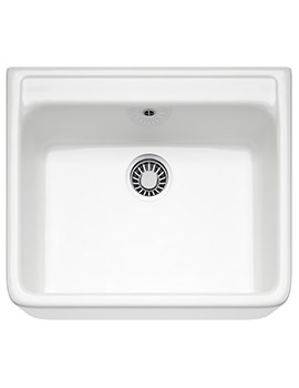 Belfast VBK 710 Ceramic White 1.0 Bowl Kitchen Sink