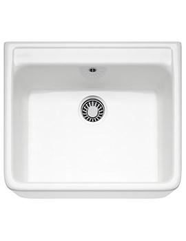 Belfast VBK 710 White Ceramic 1.0 Bowl Kitchen Sink