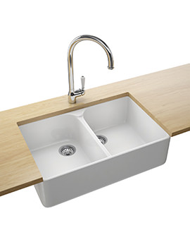 Belfast Designer Pack VBK 720 Ceramic White Kitchen Sink And Tap