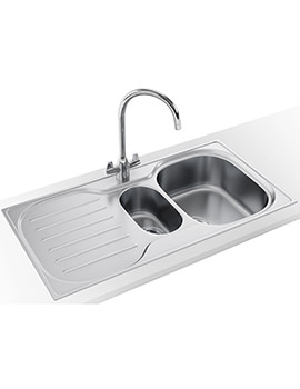 Compact Plus DP CRX P 651 Stainless Steel Kitchen Sink And Tap