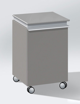 Related Duravit Darling New Left Hinged Mobile Storage Unit - DN2525L1414