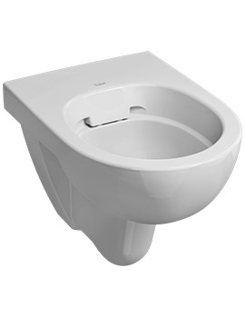Twyford E100 Round Rimfree Flushwise Wall Hung WC Pan 530mm