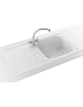 Elba Propack ELK 611 Ceramic White Kitchen Inset Sink And Tap