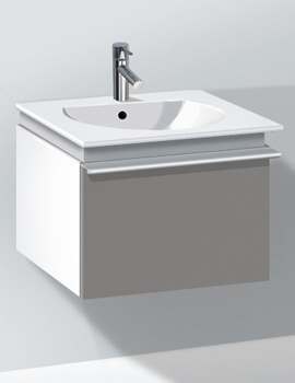 Related Duravit Darling New 500mm White Matt Vanity Unit With 530mm Basin