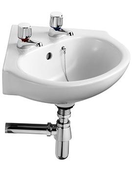 Standard Studio 450mm 2 Taphole Corner Washbasin - E116001