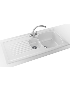 Elba Propack ELK 651 Ceramic White Kitchen Inset Sink And Tap