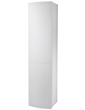 Twyford Moda Tall Cabinet 382 x 1600 x 370mm White - 88199