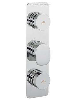 Dial 2 Control Shower Valve With Pier Portrait Trim