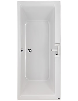 Athena Acrylic Double Ended 2 Tap Hole 1700 x 750mm Bath