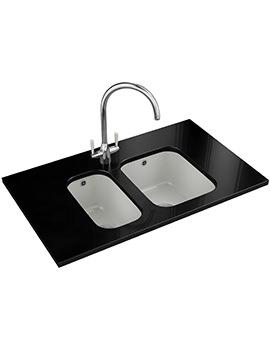 V And B DP VBK 110 21 + VBK 110 33 Ceramic Kitchen Sink And Tap