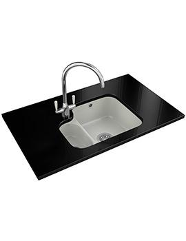 V And B Designer Pack VBK 160 Ceramic White Kitchen Sink And Tap