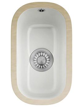 V And B VBK 110 21 Ceramic White 1.0 Bowl Undermount Kitchen Sink