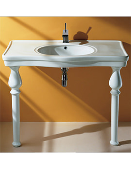 Console Deluxe 1 Tap Hole Basin With Ceramic Legs 1050mm