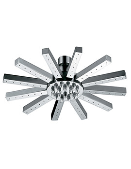 Mayfair Square Tube 9 Inch Chrome Shower Head