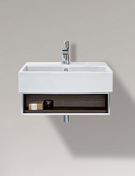 Vero 450mm Open Compartment Unit With Towel Rail And Basin