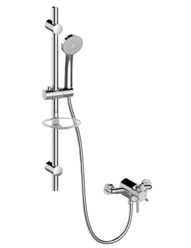 Essential Serio Thermostatic Mini Concentric Mixer Shower And Kit