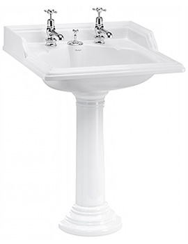 Classic Basin With Invisible Overflow And Regal Round Pedestal