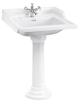 Classic 650mm Basin With Regal Round Pedestal