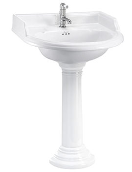 Burlington Classic Round 650mm Basin With Regal Round Pedestal