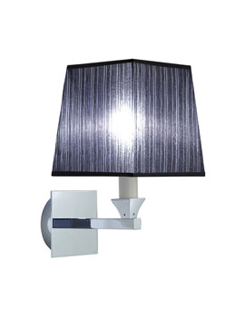 Astoria Wall Lamp With Black Fabric Shade - XLP1000900