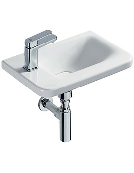 Tonic II 450mm 1 TH Left Hand Asymmetric Guest Basin White
