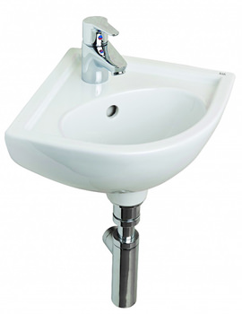 Essential Lily Raised Height Corner Basin - EC1013
