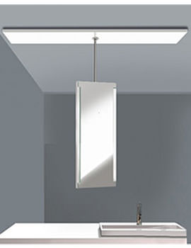 Duravit Central Pivotable Mirror With Lighting On 350mm Ceiling Post