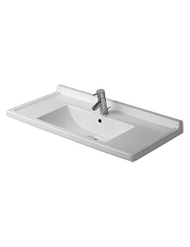 Starck 3 850mm 1 Taphole Furniture Washbasin - 0304800000