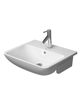 ME By Starck 1 Taphole Semi Recessed Washbasin - 0378550000
