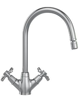 Rotaflow Kitchen Sink Mixer Tap SilkSteel - 115.0251.258